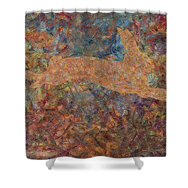 Ghost Of A Rabbit Shower Curtain