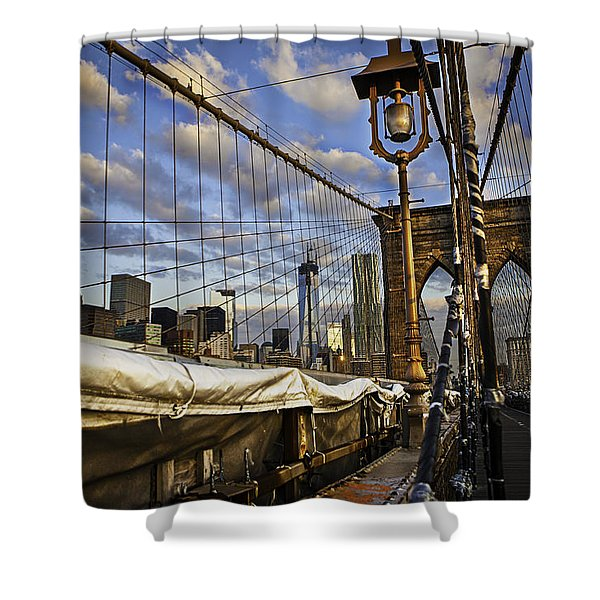 Ghost On The Bridge Shower Curtain