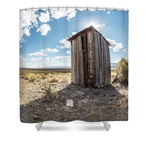 Ghost Town Outhouse Shower Curtain