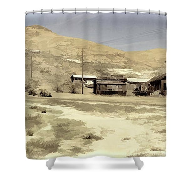 Ghost Town Textured Shower Curtain