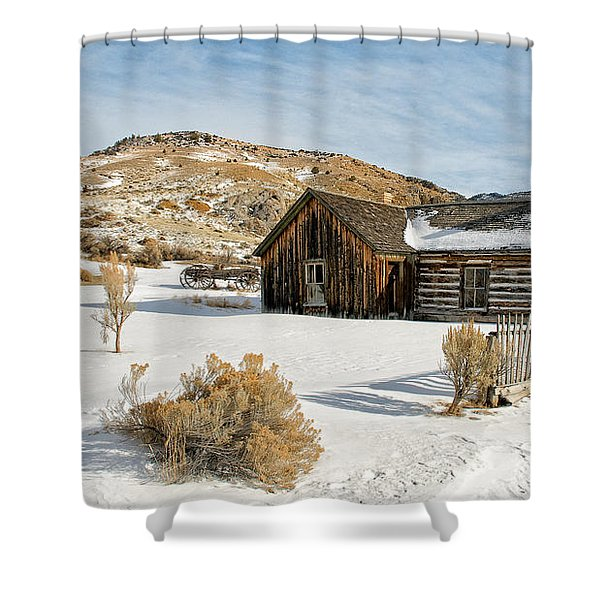 Ghost Town Winter Shower Curtain