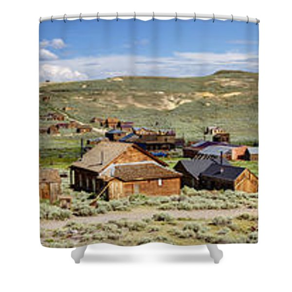 Ghostly Panorama Shower Curtain