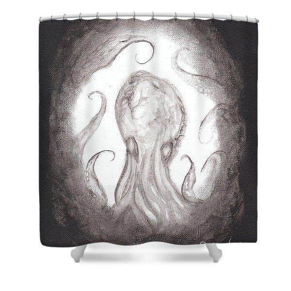 Ghostopus Shower Curtain