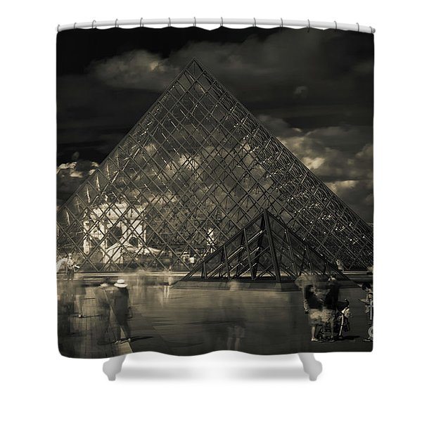 Ghosts Of The Louvre Shower Curtain