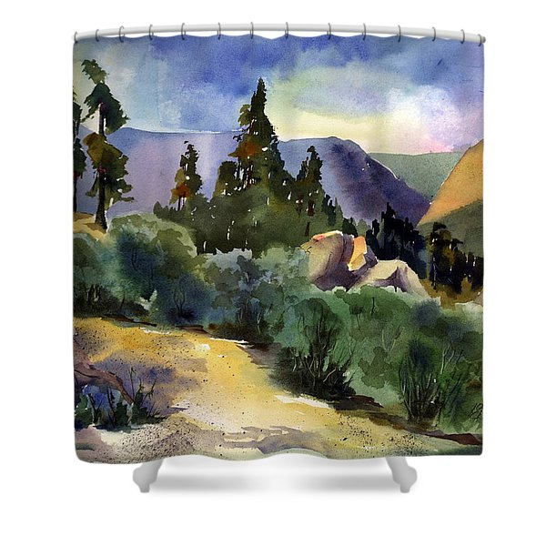 Giant Gap From Iron Point Shower Curtain