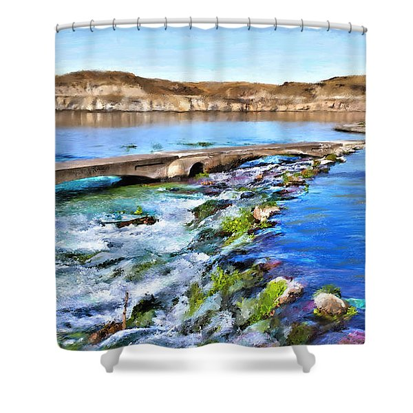 Giant Springs 3 Shower Curtain
