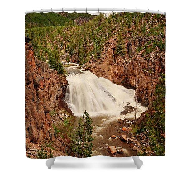Gibbon Falls II Shower Curtain