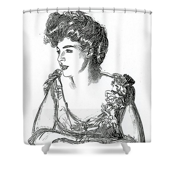 Gibson Girl, 1902 By Charles Dana Gibson Shower Curtain