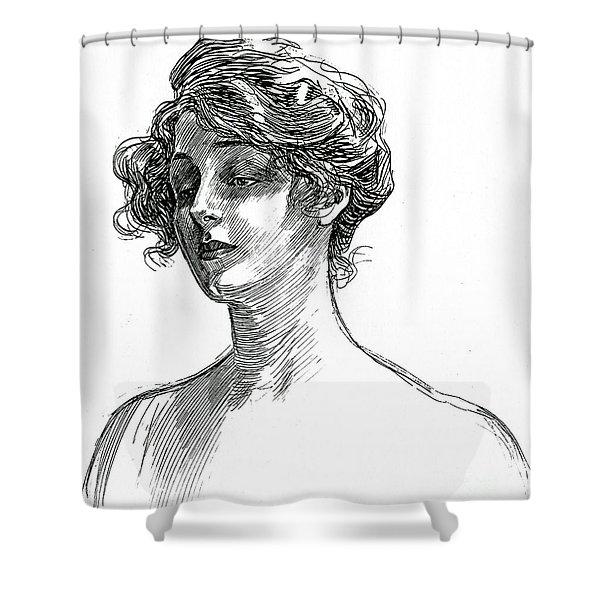 Gibson Girl Circa 1902 Shower Curtain