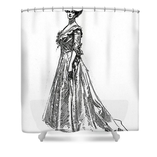 Gibson Girl From 1902 Shower Curtain