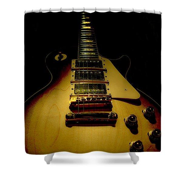 Guitar Triple Pickups Spotlight Series Shower Curtain