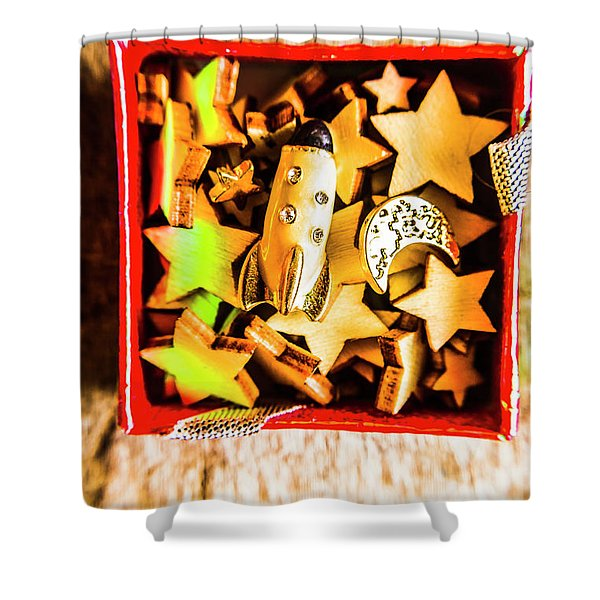 Gift Boxes And Astronomy Toys Shower Curtain