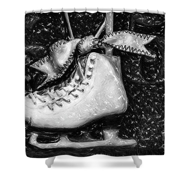 Gift Of Ice Skating Shower Curtain