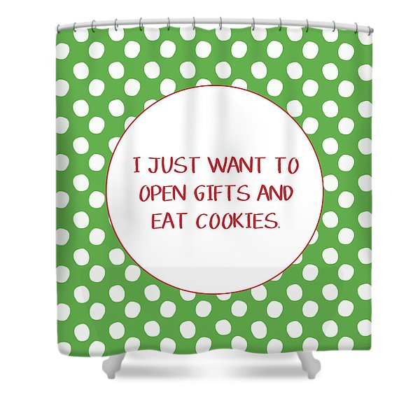 Gifts And Cookies- Art By Linda Woods Shower Curtain