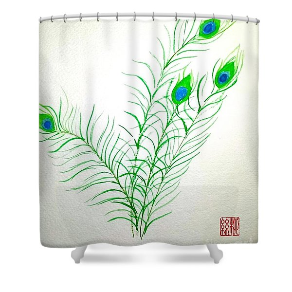 Gifts Of The Peacock Shower Curtain