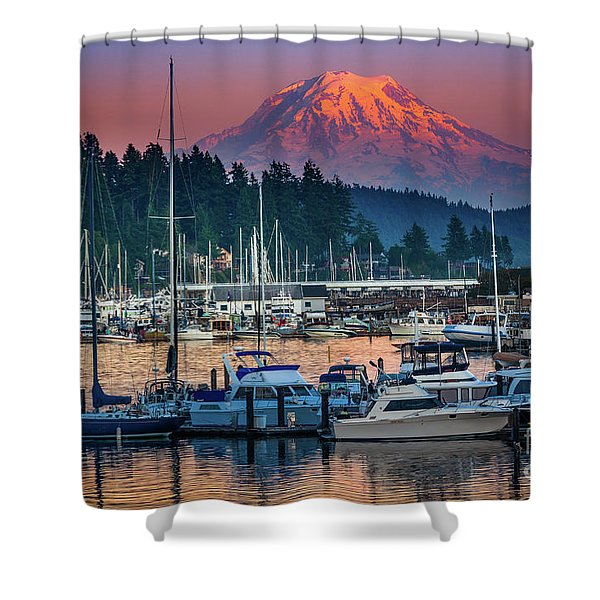 Gig Harbor Dusk Shower Curtain