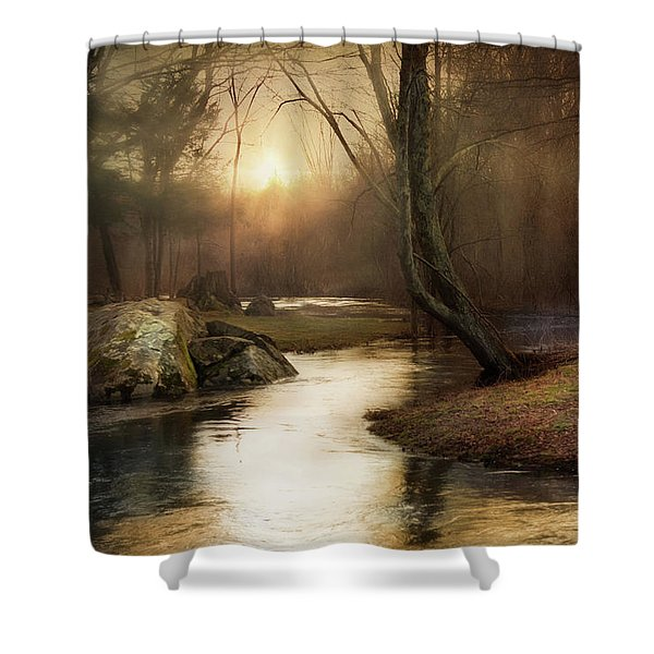 Gilded Woodland Shower Curtain