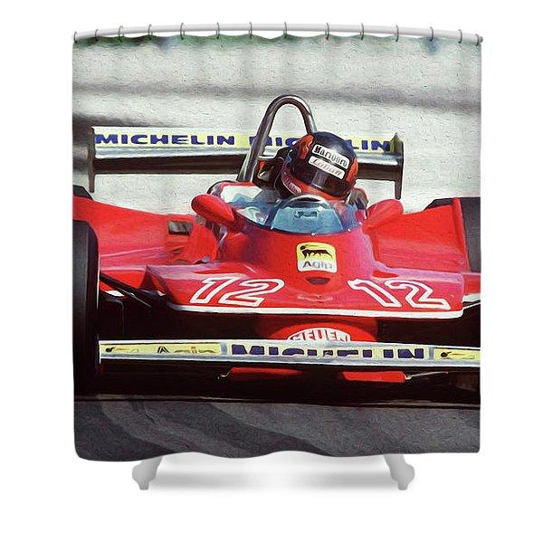 Gilles Villeneuve, Ferrari Legend - 01 Shower Curtain