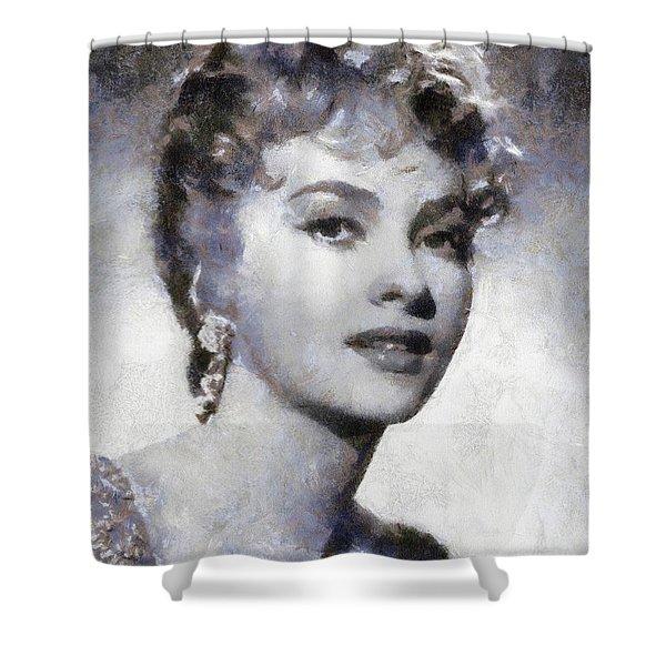 Gina Lollobrigida By Sarah Kirk Shower Curtain