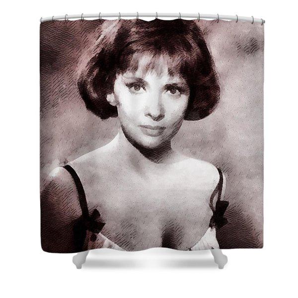 Gina Lollobrigida Hollywood Actress Shower Curtain