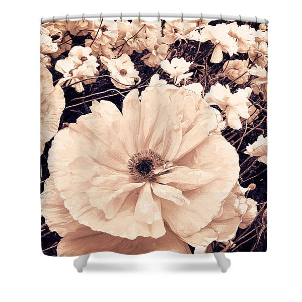 Ginger Poppies Shower Curtain