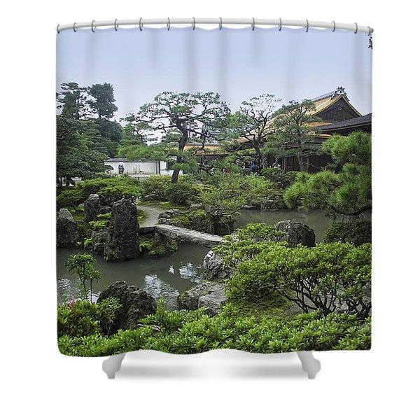 Ginkaku-ji Zen Temple No. 1 - Kyoto Japan Shower Curtain