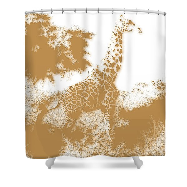 Giraffe 2 Shower Curtain