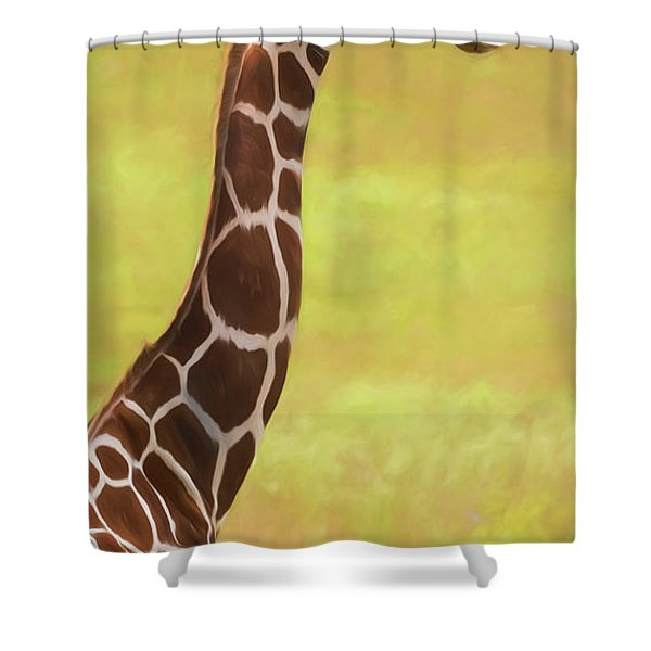 Giraffe - Backward Glance Shower Curtain