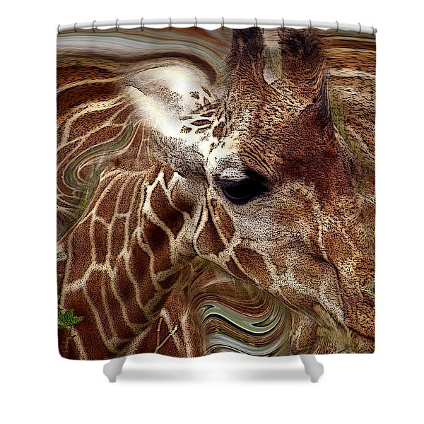 Giraffe Dreams No. 1 Shower Curtain