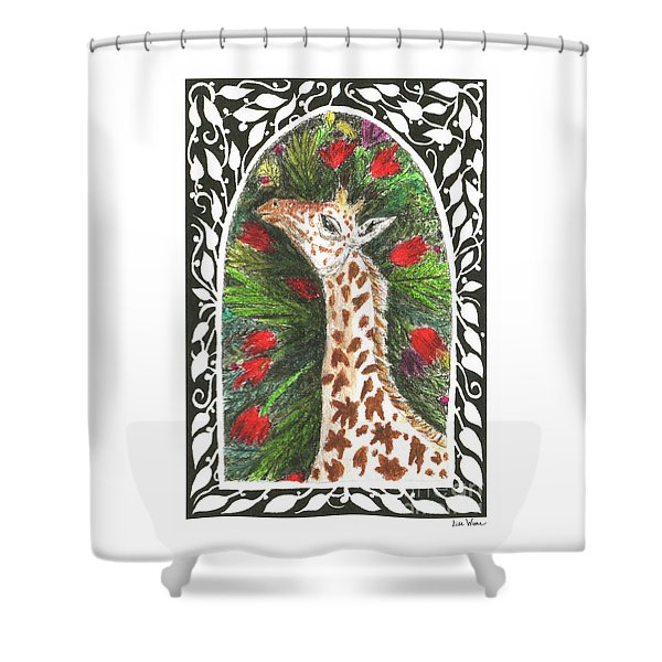 Giraffe In Archway Shower Curtain