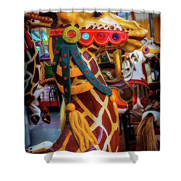 Giraffe Ride Shower Curtain