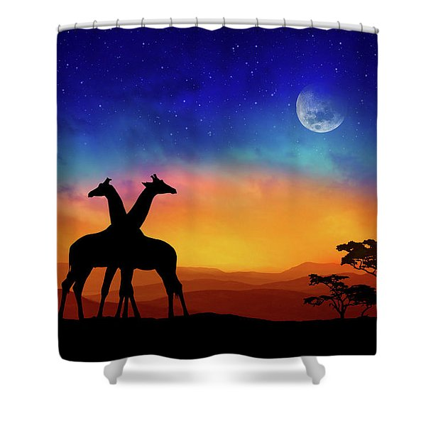 Giraffes Can Dance Shower Curtain