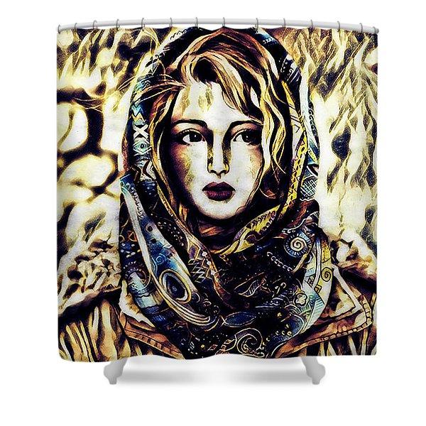 Girl In Hijab Shower Curtain