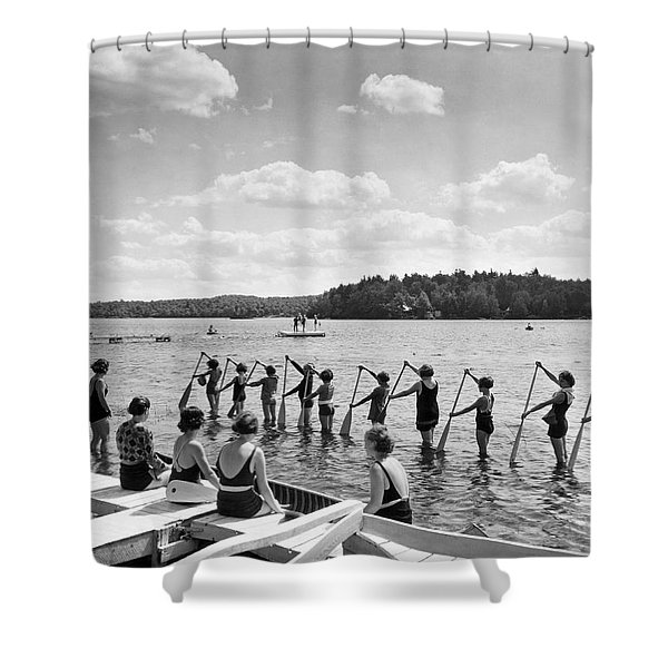 Girl Scout Canoe Lessons Shower Curtain