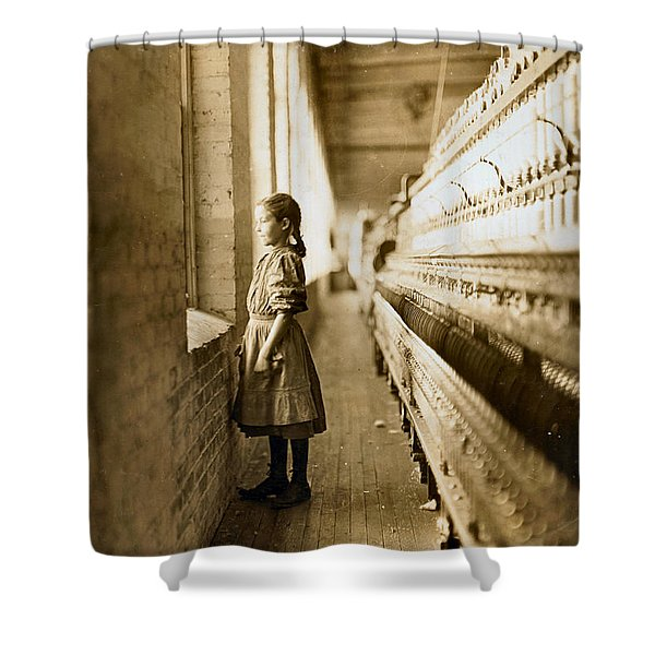 Girl Spinner 11 Years Old Rhodes Manufacturing Co Lincolnton 1908 Shower Curtain