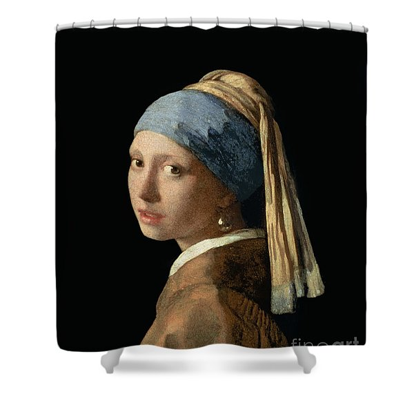Girl With A Pearl Earring Shower Curtain