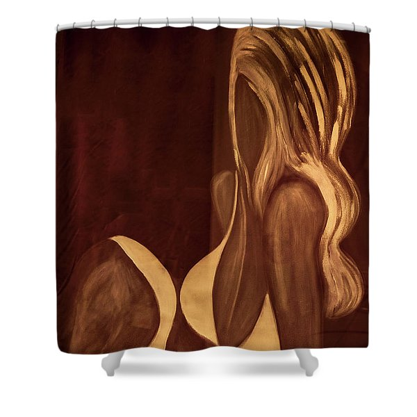 Girl_05 Shower Curtain