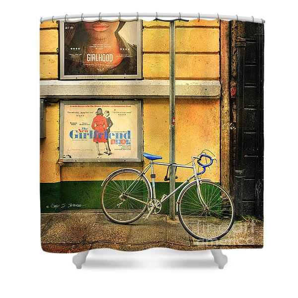 Girlfriend Bicycle Shower Curtain