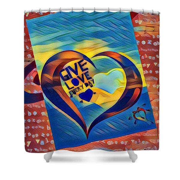 Give Love Shower Curtain