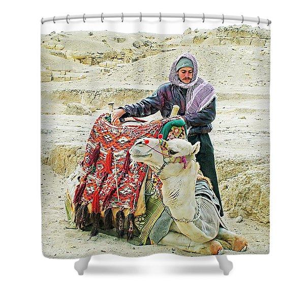 Giza Camel Taxi Shower Curtain