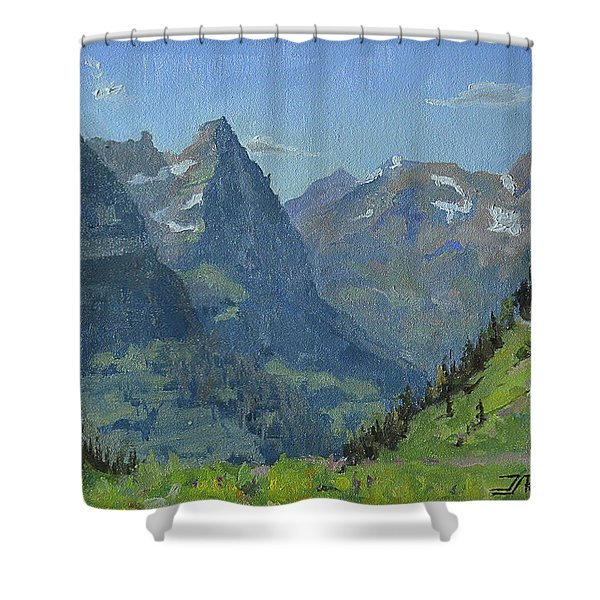 Glacier Afternoon Shower Curtain