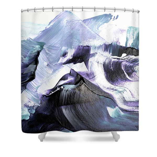 Glacier Mountains Shower Curtain