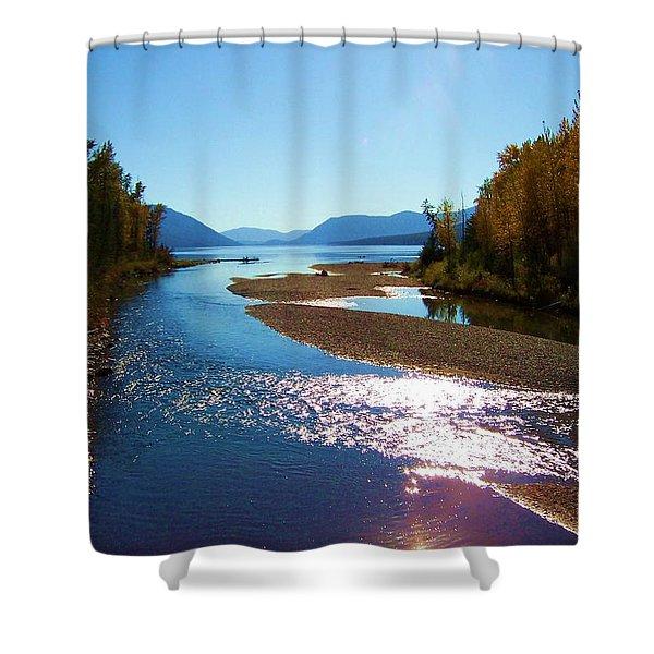 Glacier Park 9 Shower Curtain