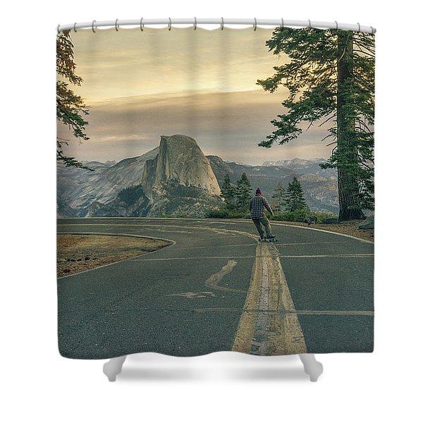 Glacier Point Adventure Shower Curtain