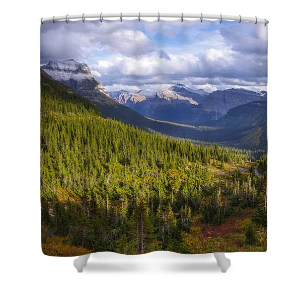 Glacier Storm Shower Curtain