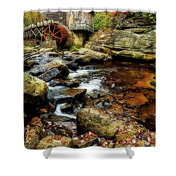 Glade Creek Grist Mill Fall  Shower Curtain