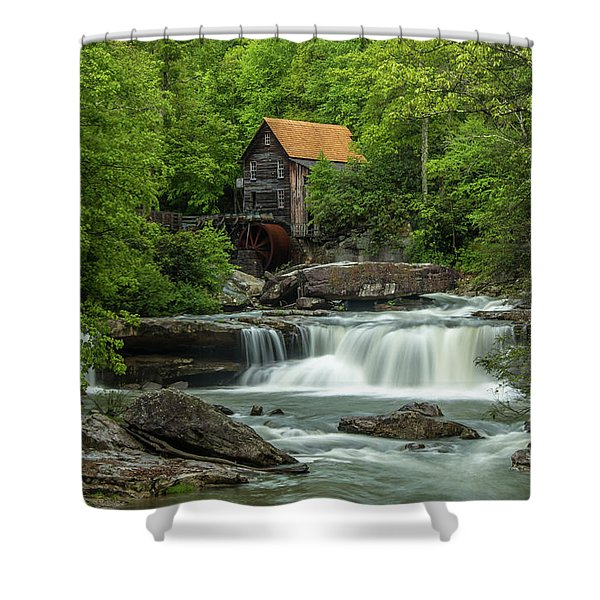 Glade Creek Grist Mill In May Shower Curtain