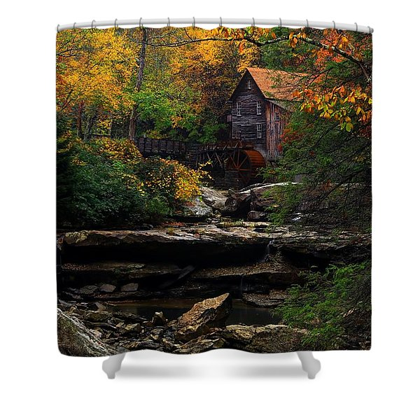 Glades Creek Grist Mill West Virginia Shower Curtain