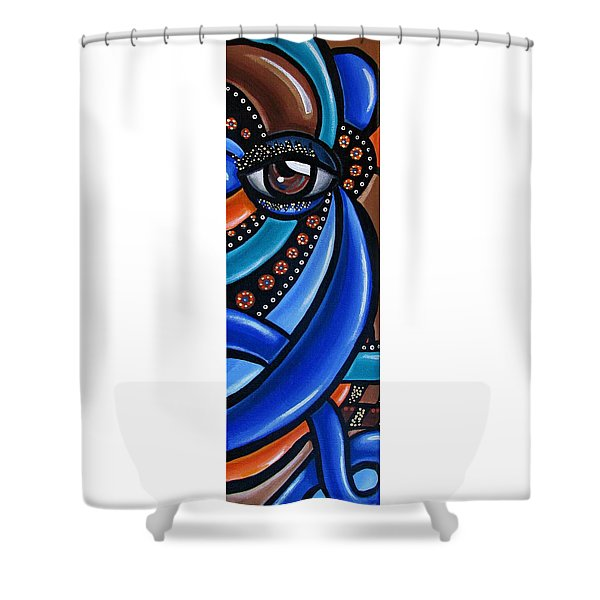 Abstract Eye Art Acrylic Eye Painting Surreal Colorful Chromatic Artwork Shower Curtain