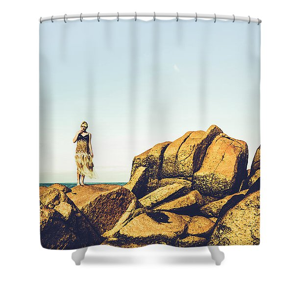 Glamour In Untouched Paradise Shower Curtain